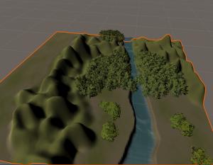 UnityのTerrainの基本操作|山や川などの地形を作成してみる!